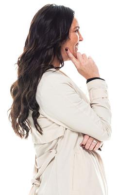白色背景,女性,厚衣服,经理,衣服,白色人种,专业人员,背景分离,策略,40到44岁