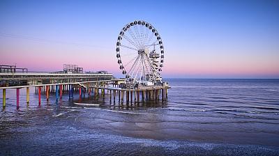 码头,斯海弗宁恩,国际著名景点,车轮,著名景点,钢铁,春天,海岸线,夏天,户外