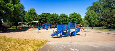 童年,蒙特利尔,全景,居住区,游乐场,,桨叉架船,十月,休闲游戏,玩具