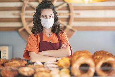 烘焙师,女人,衣服,外科口罩,专业人员,土耳其,医药职业,药,饮食产业,医疗流程