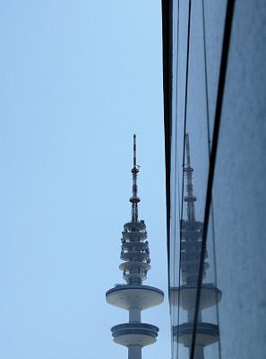 城市,无线电通信塔,汉堡,天线,纹理效果,围墙,现代,色彩鲜艳,著名景点,背景