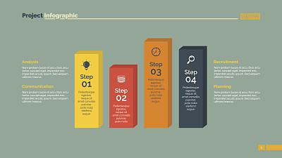 模板,图表,安全护栏,四个物体,台阶,橙色,忠告,策略,书页,背景分离