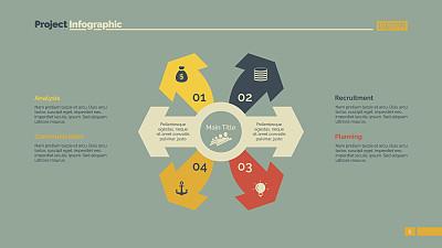 模板,箭头符号,四个物体,台阶,橙色,忠告,策略,书页,背景分离,黄色
