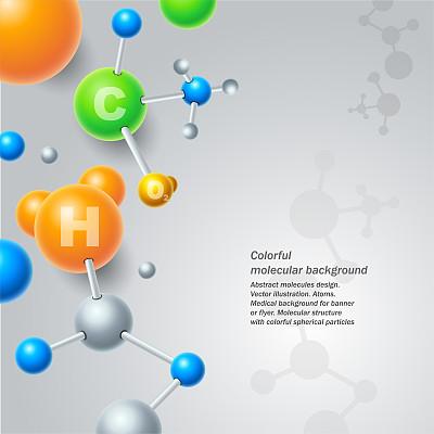 抽象,分子,球体,背景,健康保健,绘画插图,矢量,原子,分子结构,设计