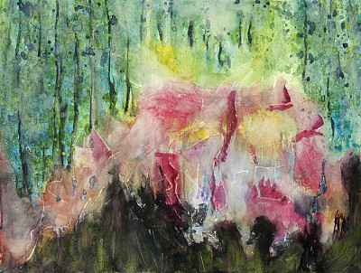 抽象,艺术,水彩画颜料,色彩饱和,美术工艺,背景,斑驳的,彩色图片,水平画幅
