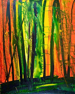 抽象,地形,艺术,色彩饱和,紫色,丙稀画,黄色,欧洲,日光