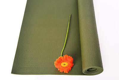 健身垫,材料,休闲追求,生活方式,非洲雏菊,仅一朵花,纹理,彩色图片,休闲活动,花