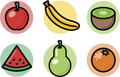 食品,水果,计算机图标,饮食,生活方式,多色的,苹果,瓜,梨,尝