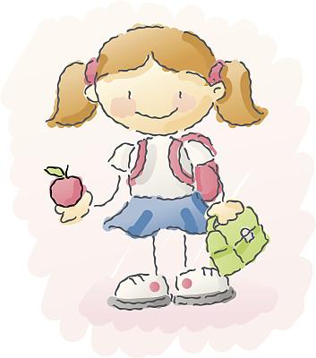 未成年学生,通勤者,人,幸福,制服,工业,生活方式,快乐,绘画插图,教育