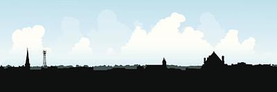 安大略省,查塔姆,城镇,无线电通信塔,全景,户外,城市天际线,塔,加拿大