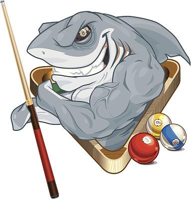 鲨鱼,球袋,斯诺克,三角形,鳃,动物牙齿,动物,8号球,运动,矢量