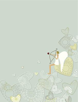 背景,情人节,概念,垂直画幅,古典式,心型,箭,射箭弓,爱,庆祝