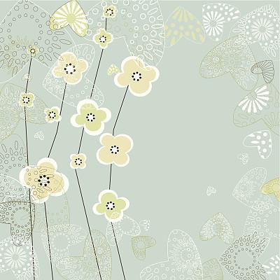背景,高雅,浪漫,蓝色,式样,古典式,春天,花,设计,装饰