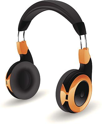 耳机,白色背景,背景分离,一个物体,矢量,蓝牙,绘画插图,剪贴画,无线技术,成品