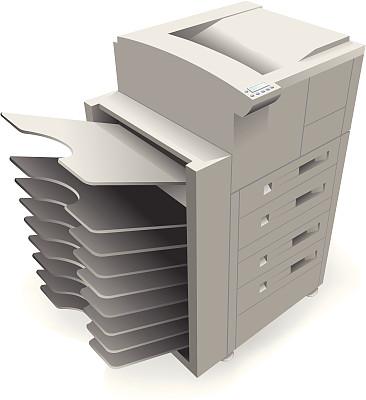 复印机,机器,设备用品,成品,垂直画幅,背景分离,绘画插图,无人,矢量,透视图