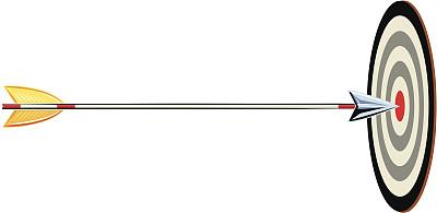 箭,靶子,白色背景,黑色,圆靶,黄色,运动,矢量,慈姑,计算机制图