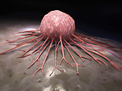 癌细胞,风险,大规模的放大,微生物,水平画幅,细胞,三维图形,癌症,生病