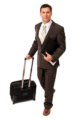 计算机,商务,手提箱,白色,人,白色背景,仅一个男人,随身行李,拿着,翻滚