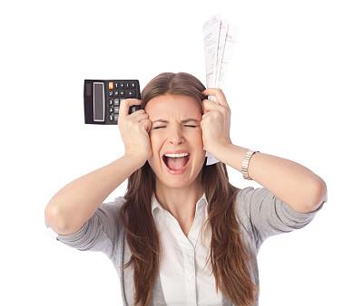 帐单,女人,信用卡,专业人员,肖像,金融顾问,顾客,影棚拍摄,担心,出示