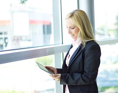 女商人,专门技术,公司企业,互联网,人,白人,办公室,看,工作