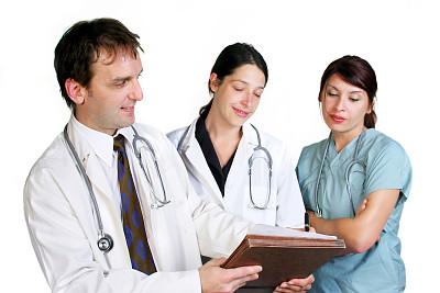 医药职业,人,白人,拿着,青年人,文件,读书,站