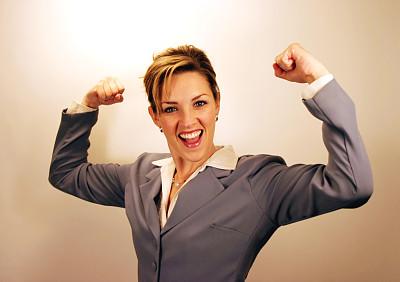 女强人,肖像,拳头,仅女人,办公室,领导能力,注视镜头,仅一个女人,改进