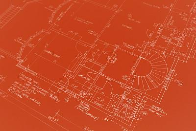 蓝图,建筑业,房屋,水平画幅,红色,图像,摄影,改进