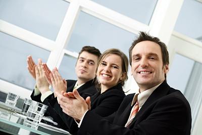 鼓掌欢迎,商务人士,公司企业,中老年人,人,团队,办公室,人群,青年人,工作