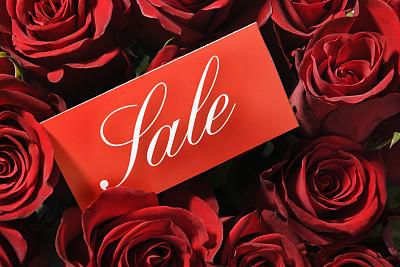 情人节,市场营销,大量物体,标签,贴标签,水平画幅,中等数量物体,促销,零售,花