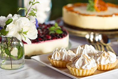 甜点心,多样,烧菜(法式烹调),华丽的,部分,蛋糕,蛋塔,自制的,甜馅饼,水果