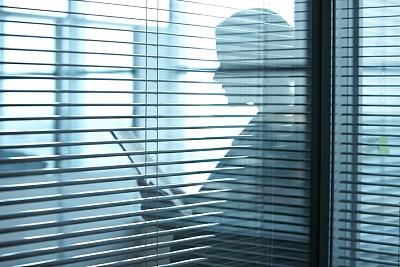 办公室,秘书,百叶帘,百叶窗,专门技术,人,住宅房间,拿着,门,工作