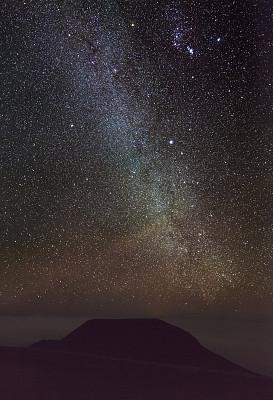 银河系,夏威夷,橙色,宏伟,星系,颗粒质感,高处,天空,Andromeda Galaxy,彩色图片