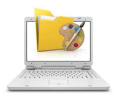 笔记本电脑,调色板,活页夹,三维图形,设备用品,工具,符号,创造力,数据,计算机设备
