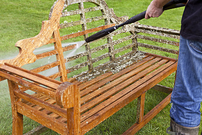 长椅,园林,垫圈,压力,园艺,庭院,干净,软管,清洗,修复
