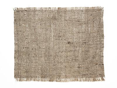 粗麻布,眼罩,材料,白色背景,帆布,背景分离,纺织补丁,特写,纹理,背景