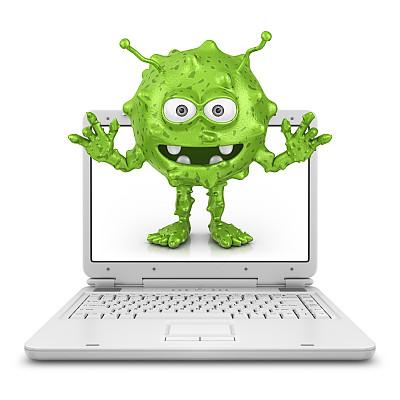 显示器,笔记本电脑,绿色,白色,三维图形,丑陋,奇异的,闪亮的,计算机设备