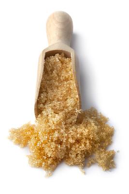 红糖,调味品,糖,白色背景,面包店,背景分离,特写,准备食物,垂直画幅,烘