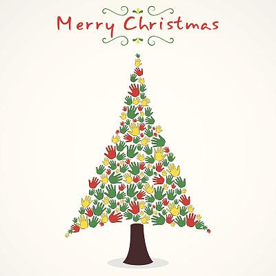 圣诞树,旋转类游乐,装饰物,季节,黄色,惊奇,矢量,十二月,庆祝,度假