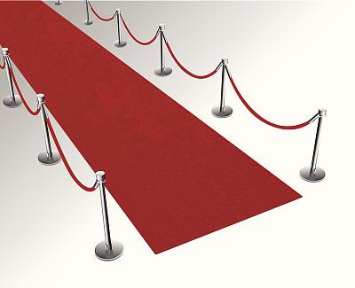 红毯,背景分离,矢量,红毯秀,绘画插图,绳栏,红色,成品,透视图,图像