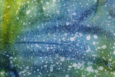 涂料,水彩画颜料,笔触,创造力,水平画幅,色彩饱和,仿旧磨损的效果,绘画艺术品,蓝色,绿色