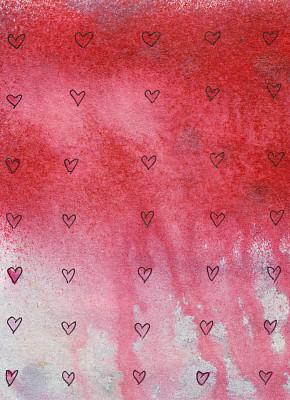 涂料,水滴,动物手,动物心脏,水彩画,符号,创造力,垂直画幅,绘制,爱