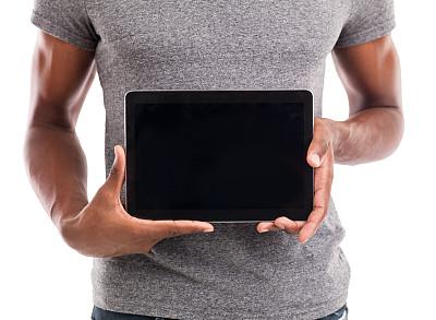 技术,背面视角,男性,人,设备用品,休闲装,触摸,举,进展,沟通