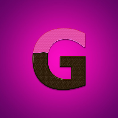 文字,英文字母G,巧克力糖,粉色背景,分离着色,饮食,食品,方形画幅,数字,巧克力