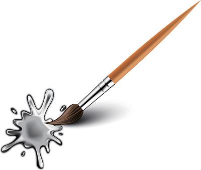 画笔,水滴,水,墨水,艺术家,水彩画颜料,黑色,泥,喷