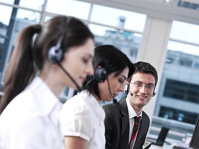 图像,公司企业,人,团队,客户服务代表,办公室,电话机,耳麦,微笑,服务