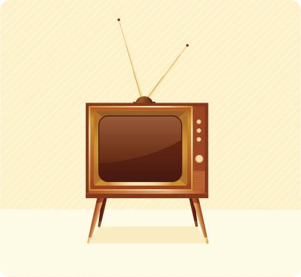 电视机,成品,家具,古典式,背景分离,绘画插图,古董,无人,复古