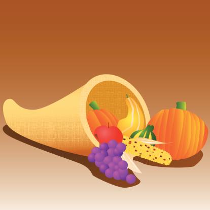 丰收的羊〗角�I,装饰物,篮子,蔬菜,水果,农作物,秋天,苹果,葡萄,南瓜属