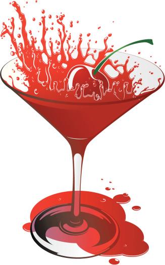 鸡尾酒,矢量,寒冷,饮料,含酒精饮料,樱桃,草莓,水滴,玻璃杯,马提尼