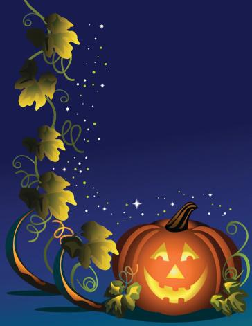 空心南瓜灯,惊骇,怪异,矢量,叶子,星形,快乐,秋天,闪亮的