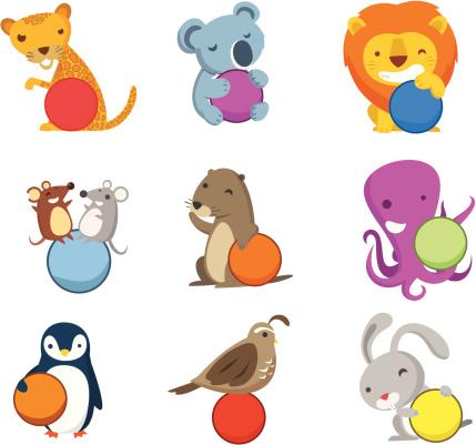 符号,动物,数字,球体,文字,可爱的,闪亮的,快乐,充满,设计